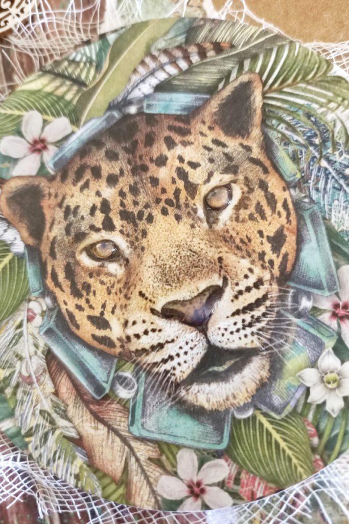 tarjetas creativas leopardo