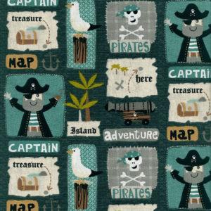 Tela Estampada Piratas
