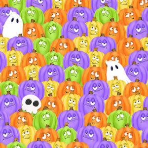 Tela calabazas de Halloween