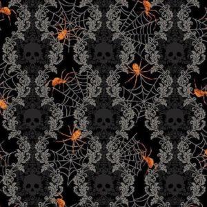 Tela arañas Spooky Night