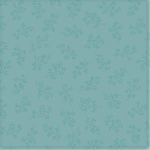 tela con estampado de flores azul