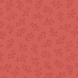 tela con estampado de flores rojo