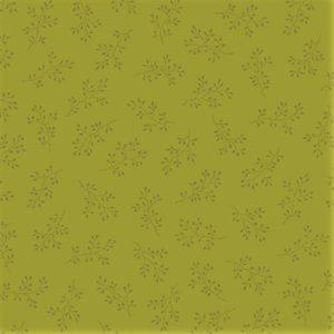 tela con estampado de flores verde