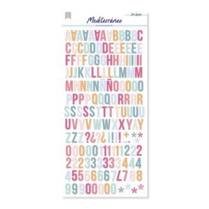 alfabetos puffy mediterraneo