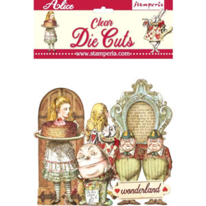 Die Cuts Chipboards Alice Clear