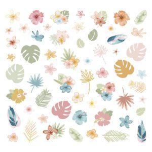die cuts ilustraciones flores