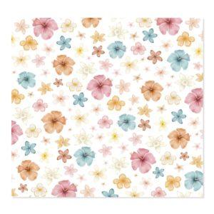 vellum impreso flores aloha