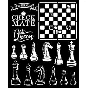stencil ajedrez
