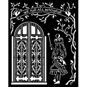 stencil puerta