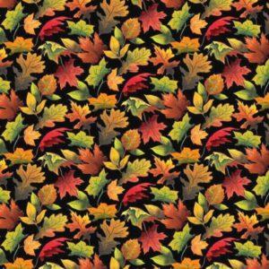 tela hojas otoñales