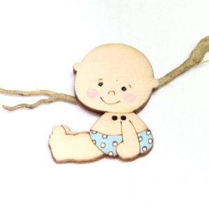 boton madera bebe niño