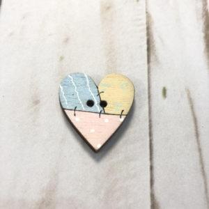 voton madera corazon rosa