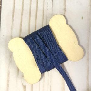 cinta gros grain azul marino