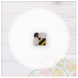 Pack botones de madera abejas