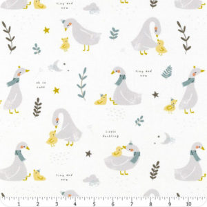 Tela Little Ducklings Blanca