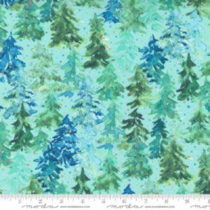 tela winter pines aqua
