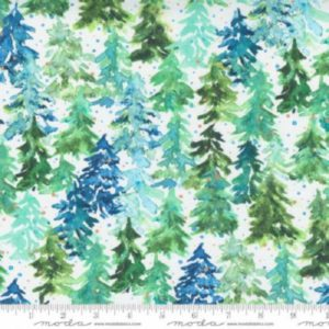 tela winter pines white