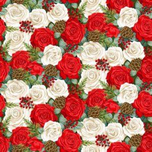 tela Rosas Classic Foliage