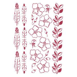 Stencil Romantic Collection Flores