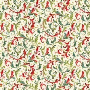 tela damasco crema classic foliage