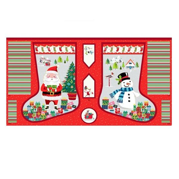 panel santa express large stocking