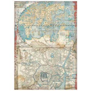 papel de arroz mapa