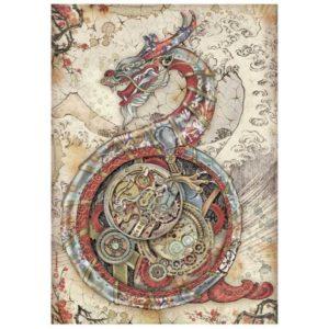 papel de arroz mechanical dragon