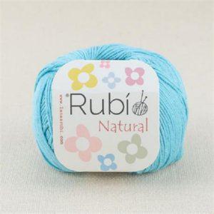 rubi natural azul turquesa