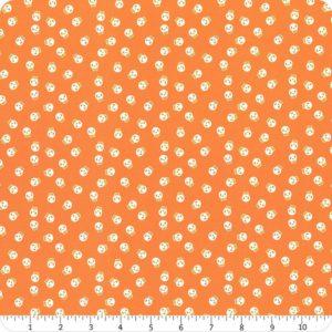tela calaveras naranja