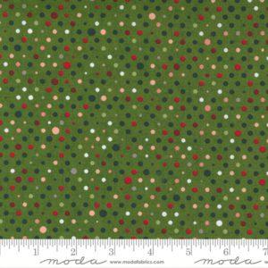 Tela puntos verde oscuro