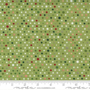 Tela puntos verde claro