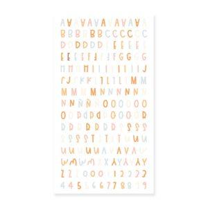 alfabetos puffy canela