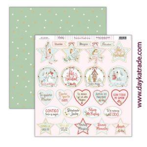 papel tags navideños